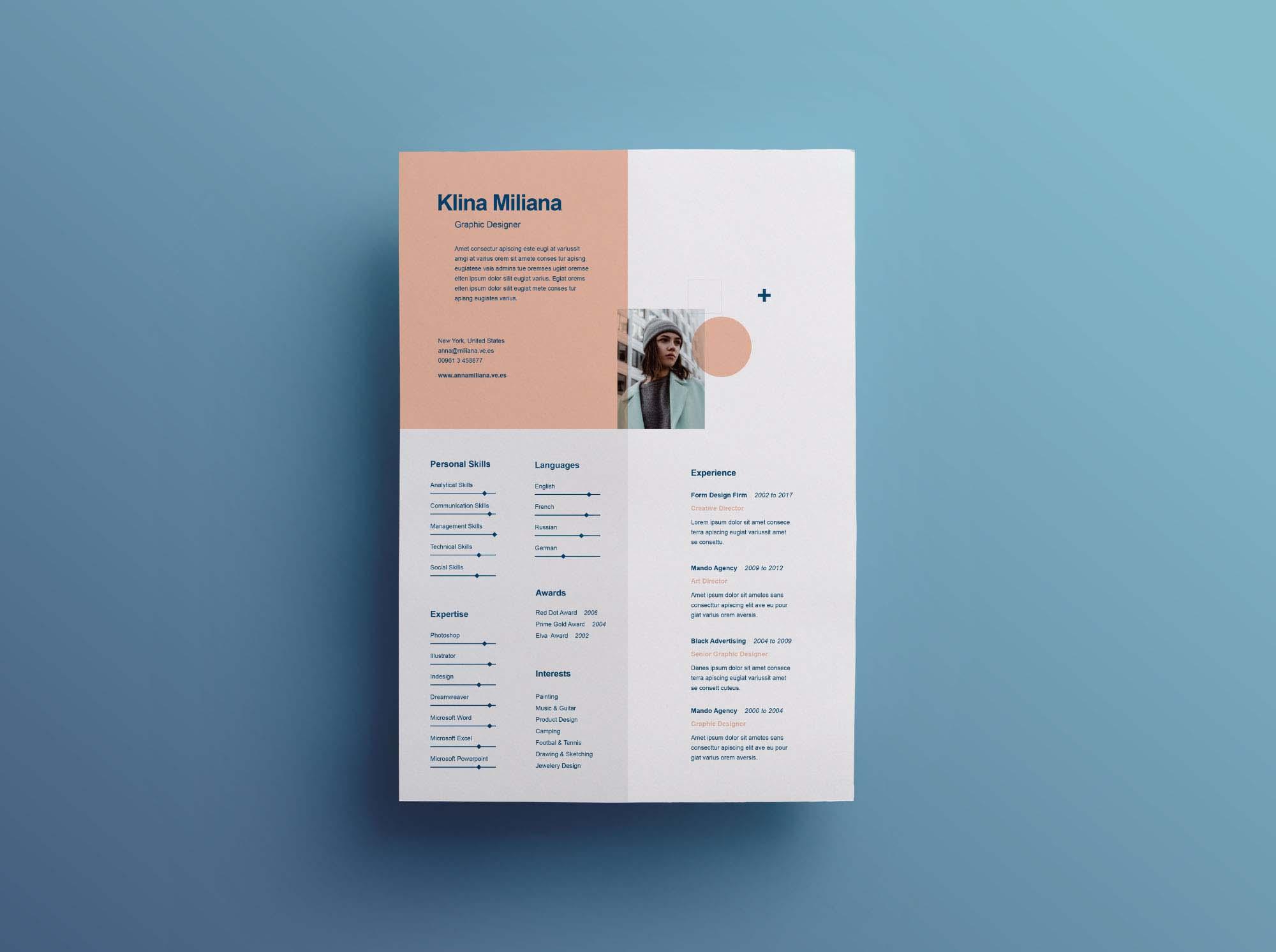 split free minimal resume template  ai