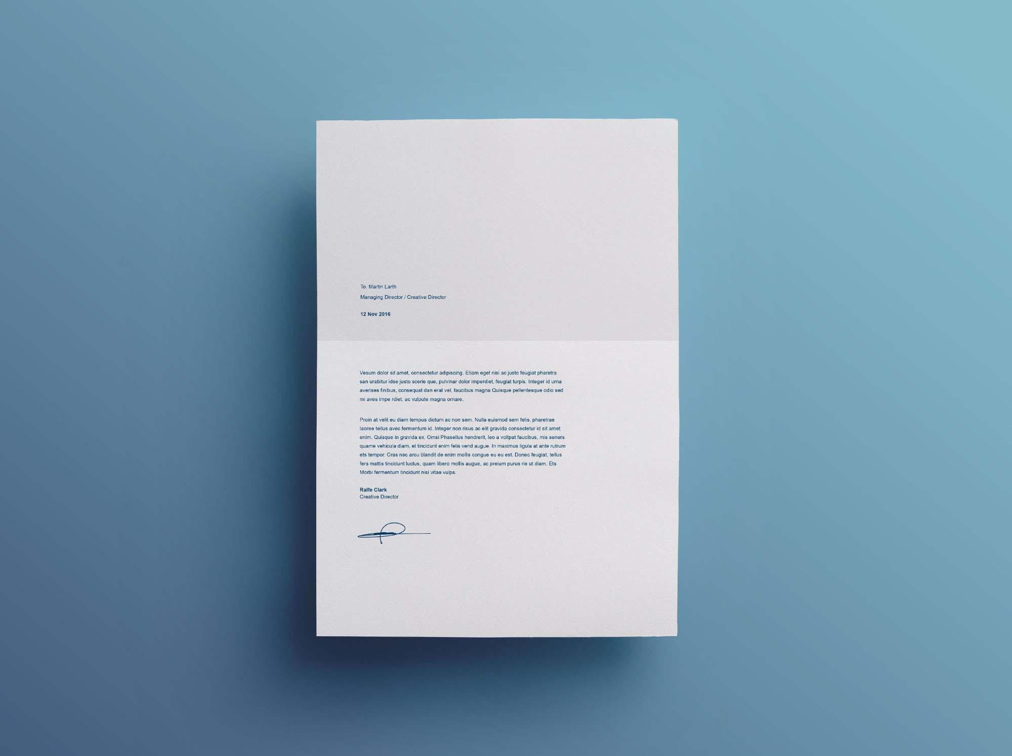Split Resume Template - Cover Letter