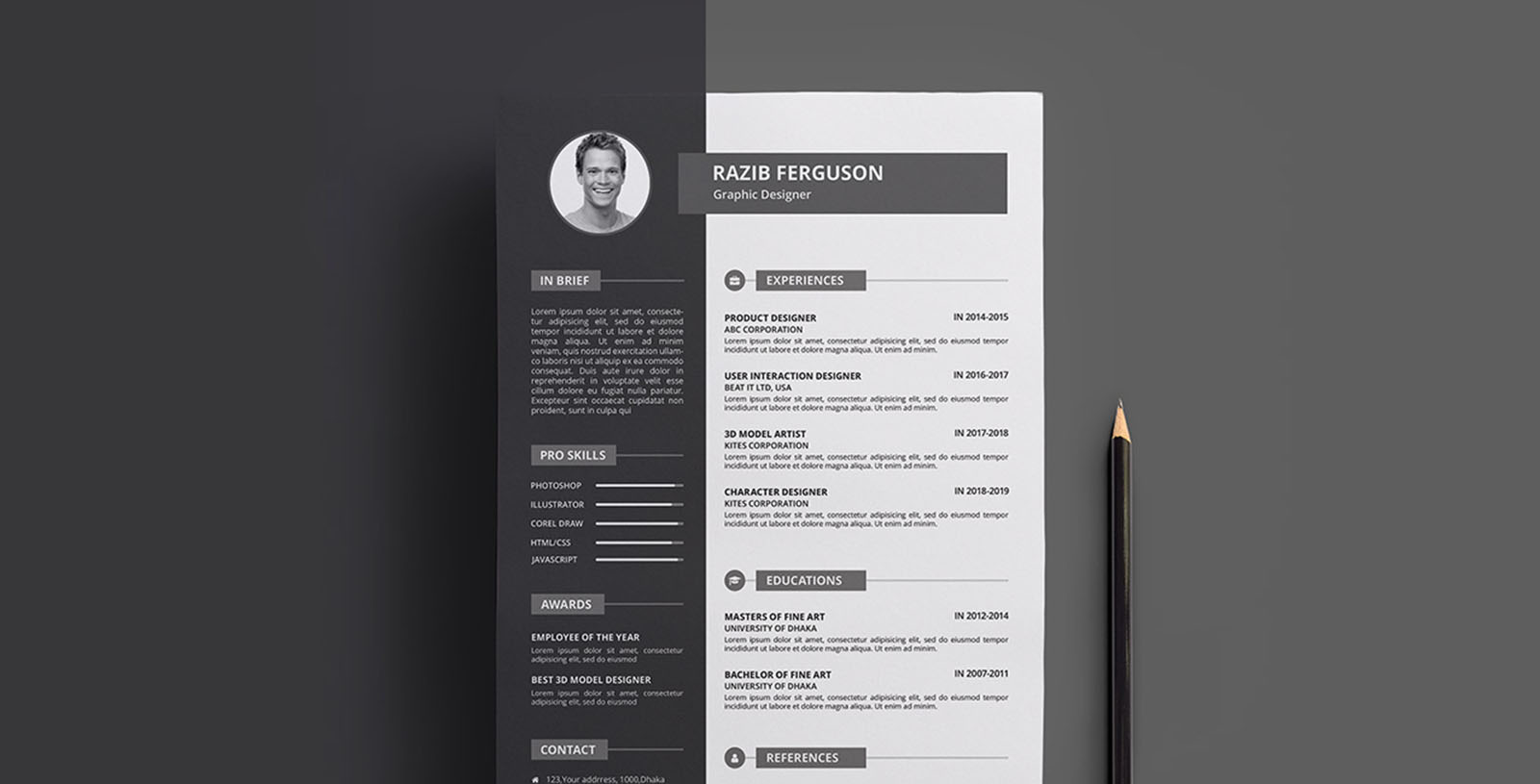 Free Resume Template & Business Card