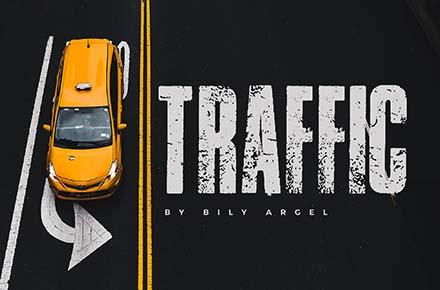 Traffic Grunge Font