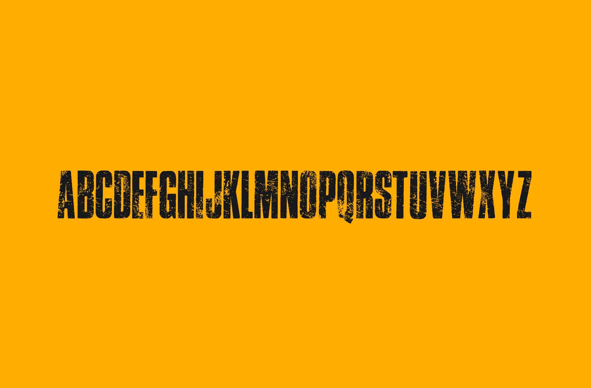 Traffic Grunge Font Letters