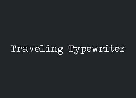 Traveling Typewriter Font