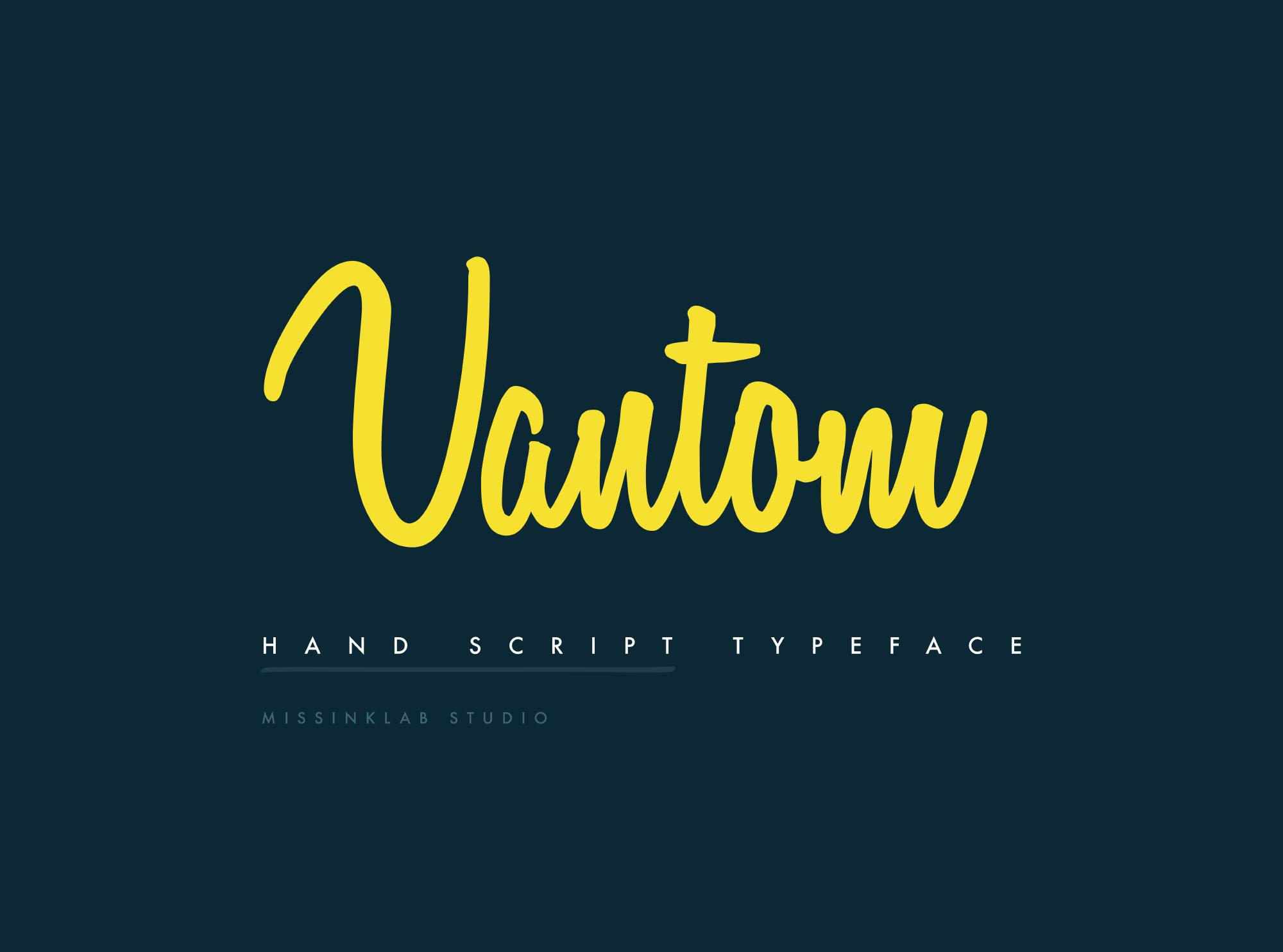Vantom Script Font