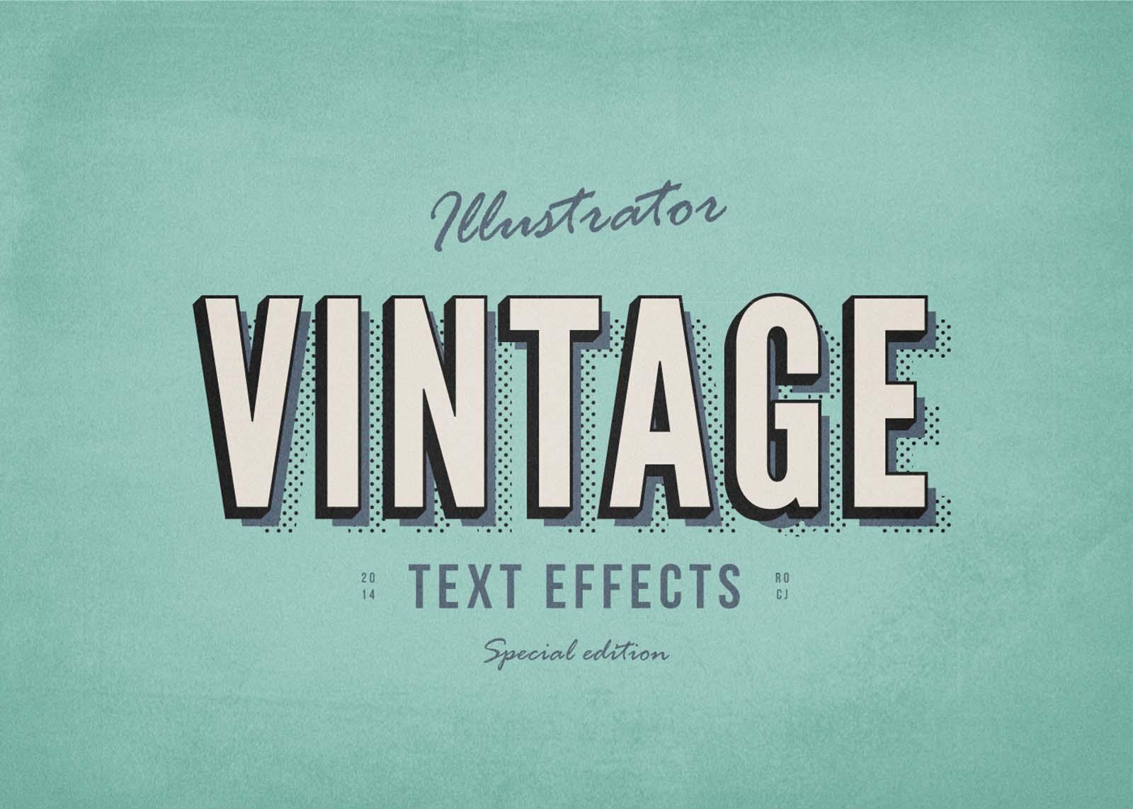 Vintage Text Effect