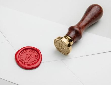 Wax Sel Stamp Mockup