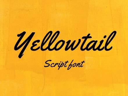 Yellowtail Script Font