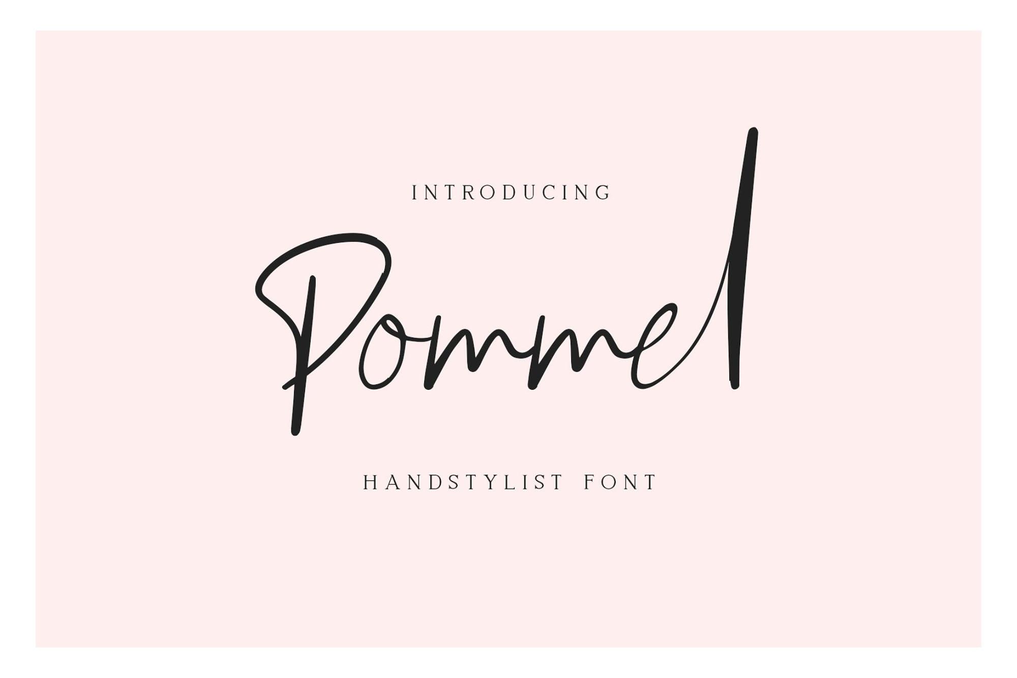Pommel Script Font