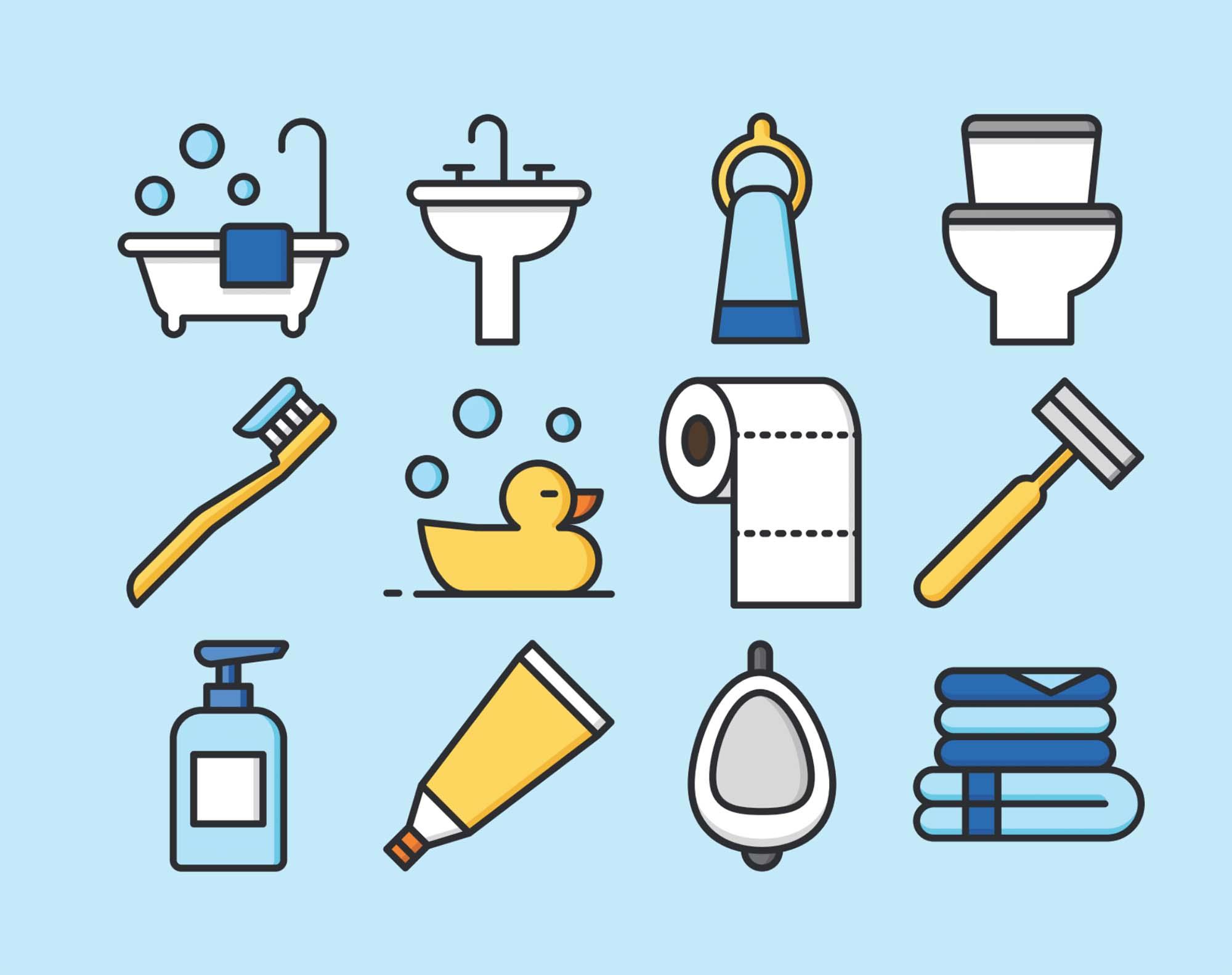 12 Bathroom Icons