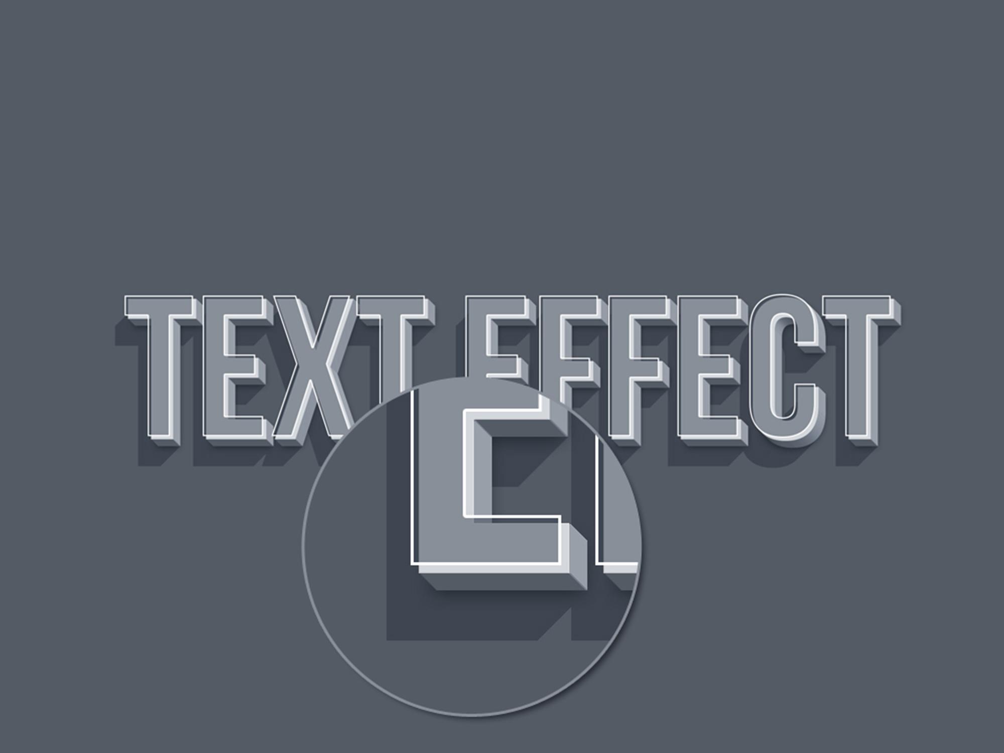 3D Smart Object Text Effect