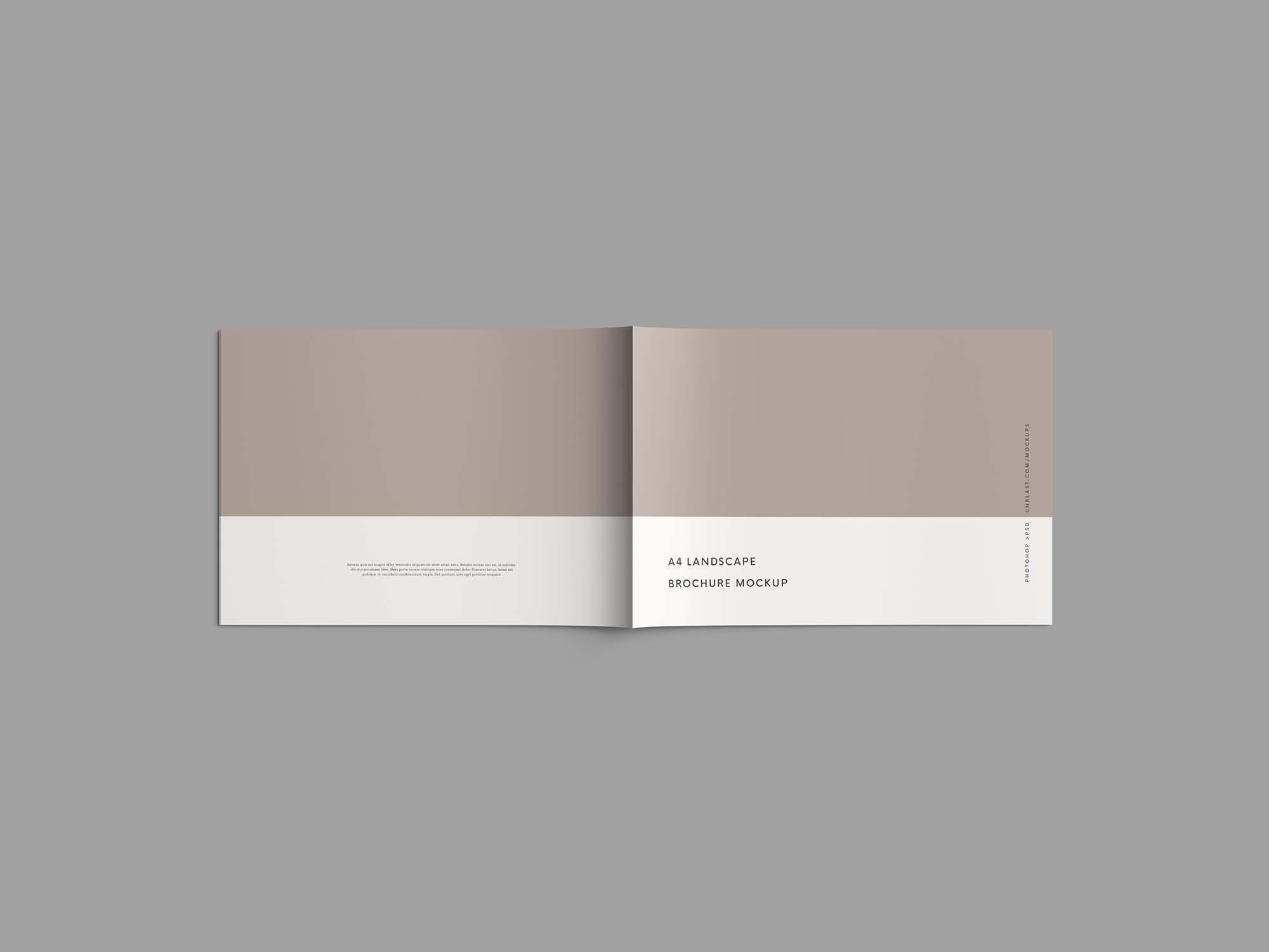 free a4 landscape brochure mockup psd