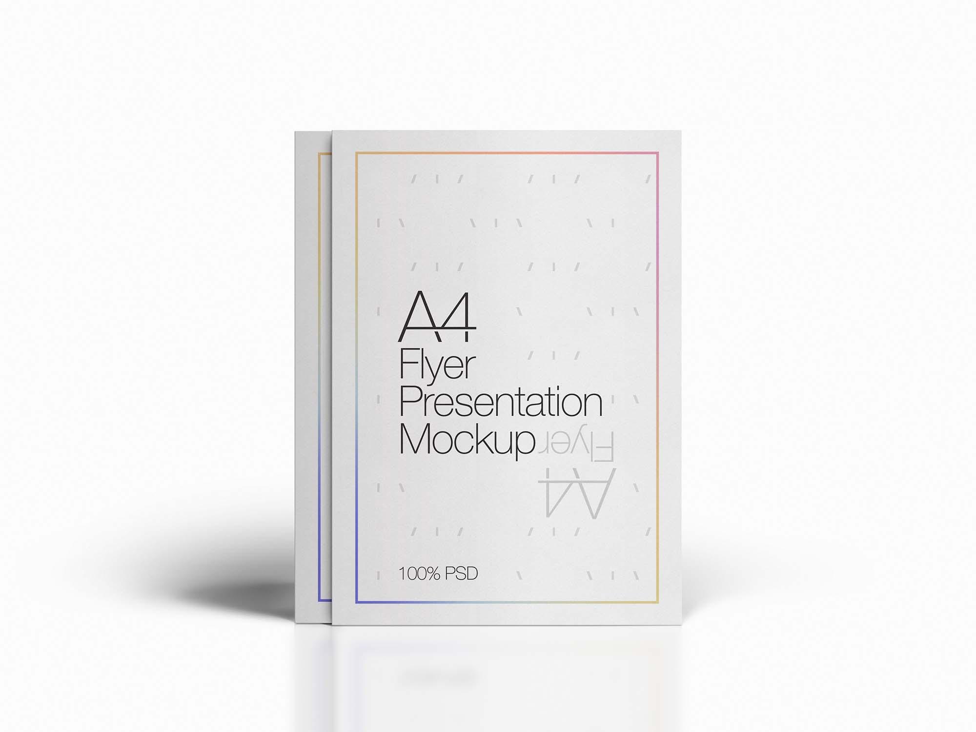 A4 Flyer Presentation Mockup
