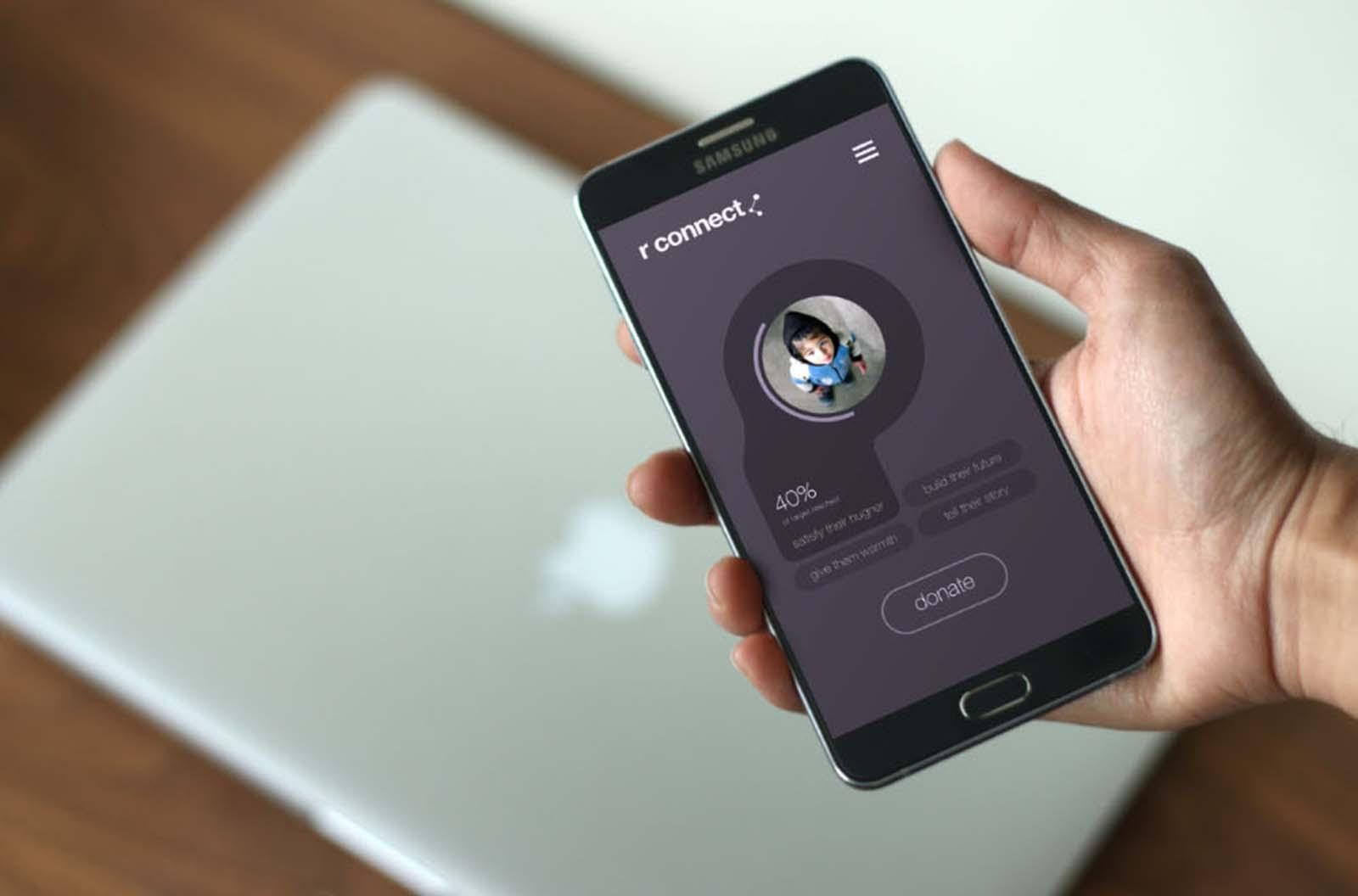 Android App Display Mockup