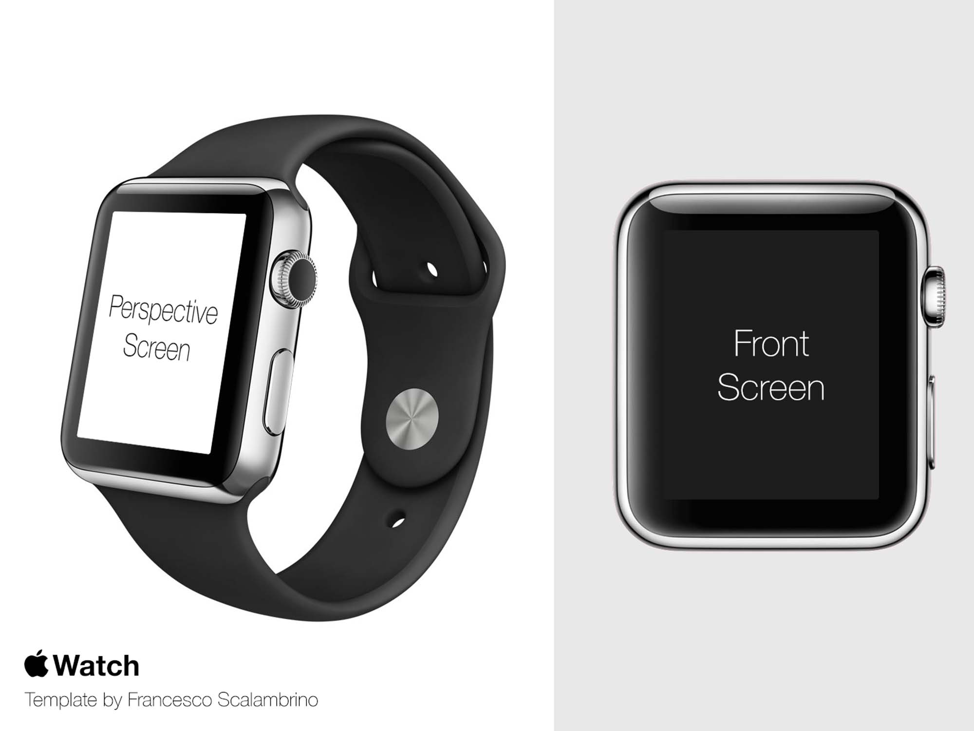 Apple Watch Mockup Template