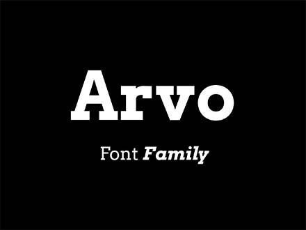 Arvo Font Family