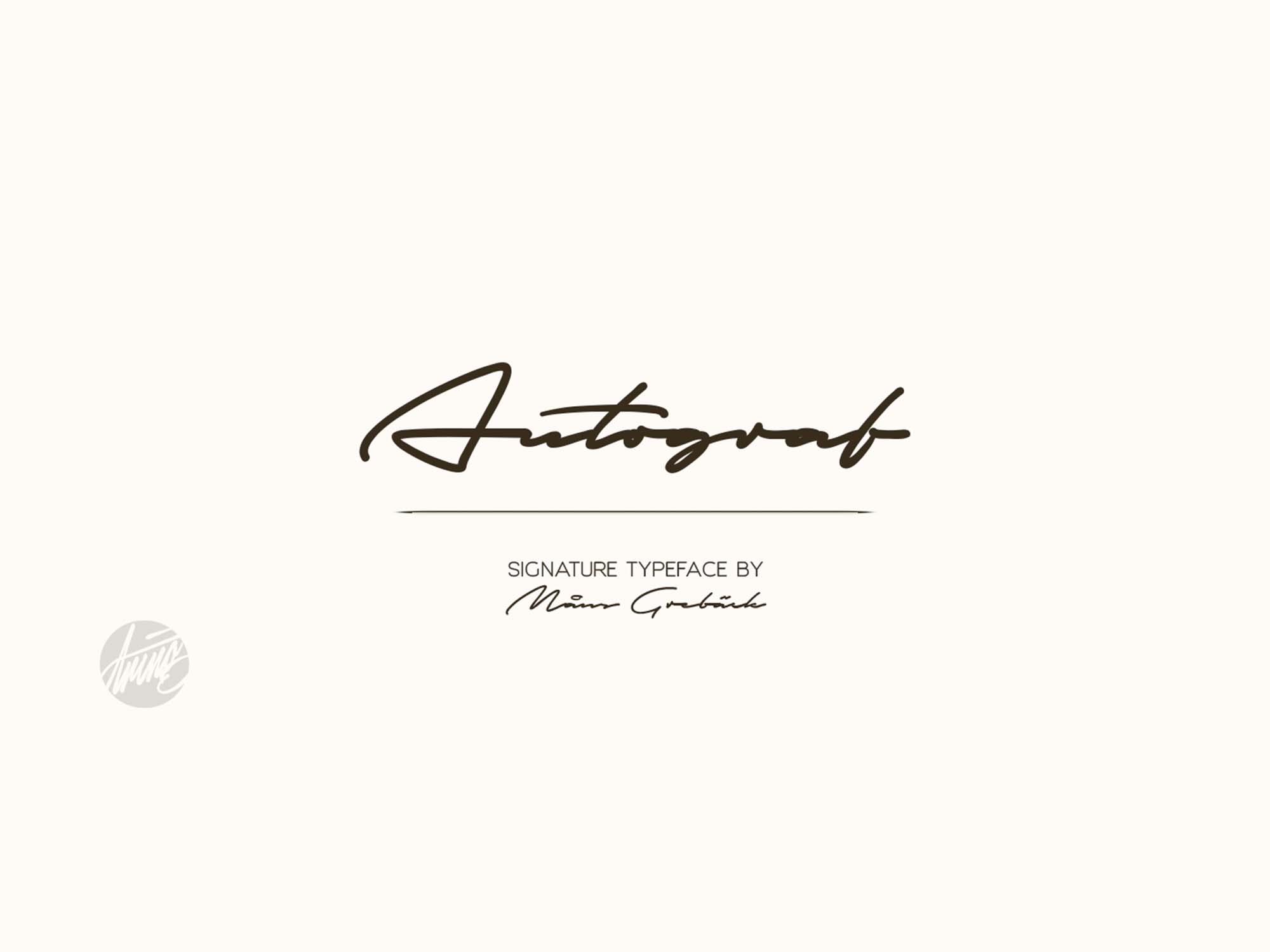 Autograf Signature Font