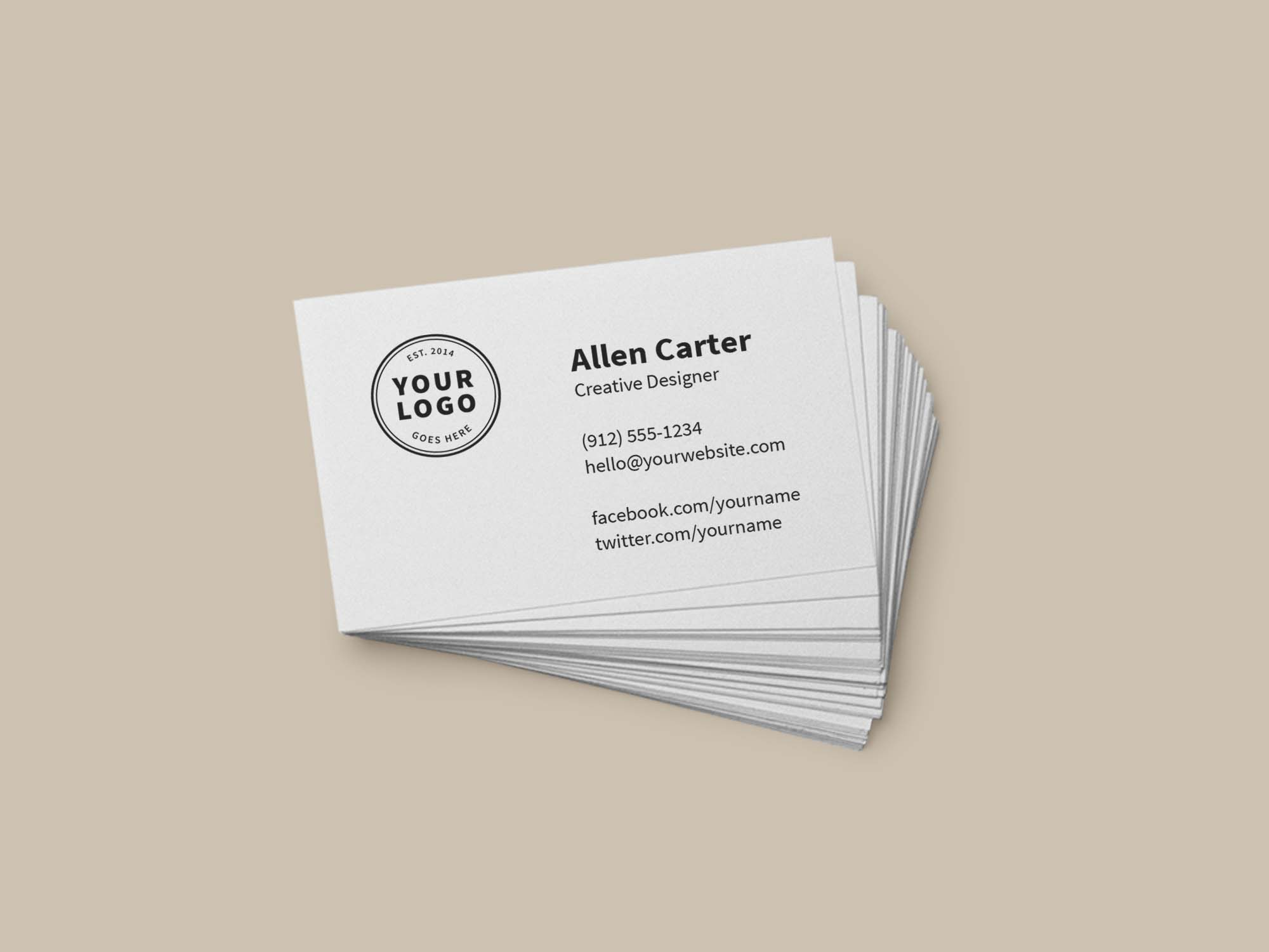Branding and Identity Mockup - Business Card
