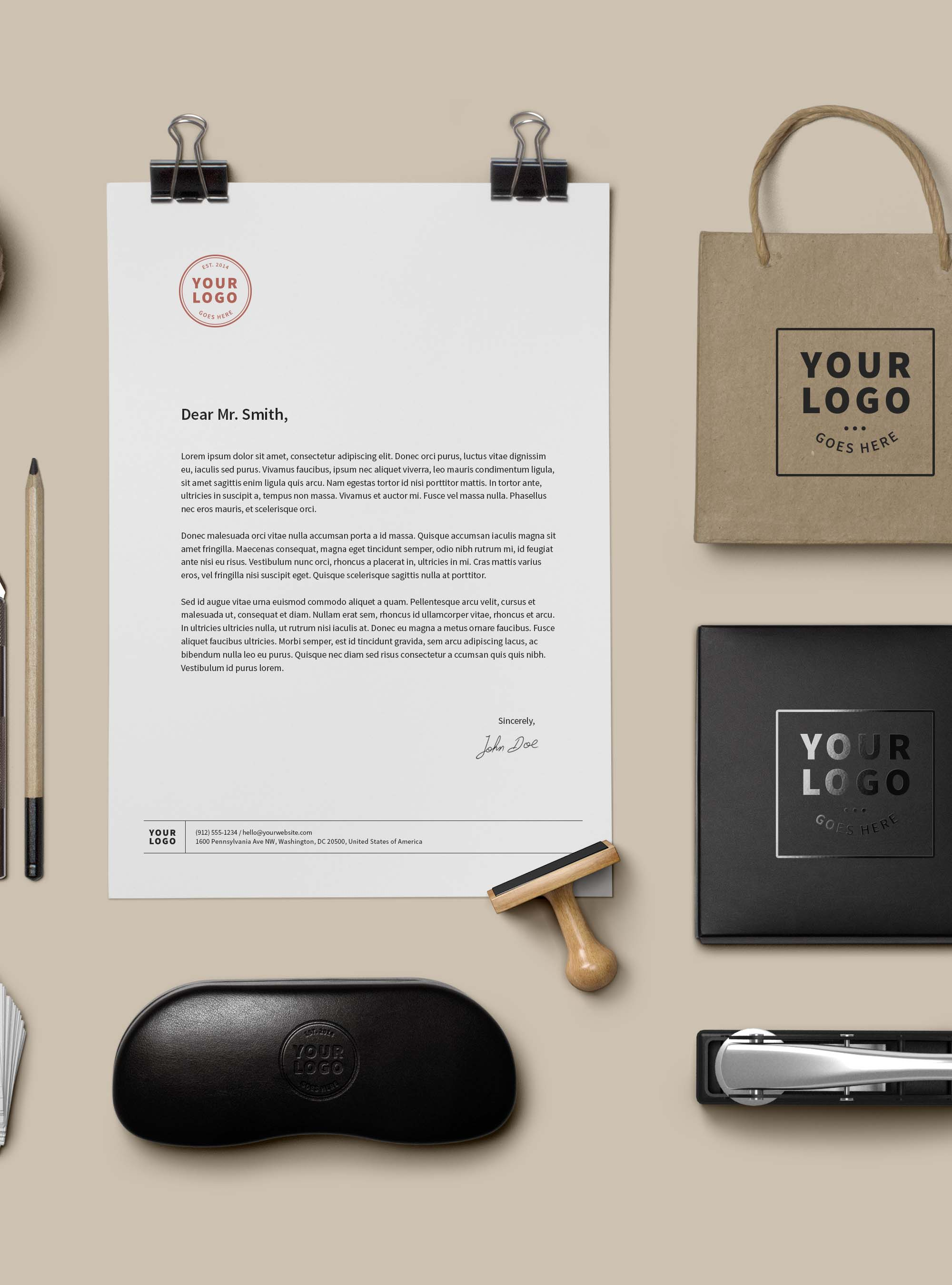 Branding and Identity Mockup PSD