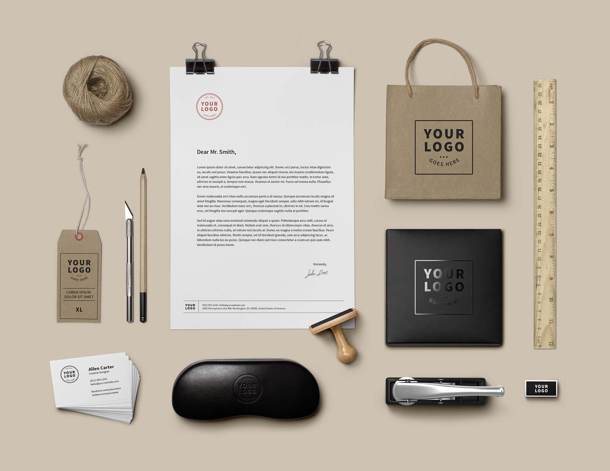Branding and Identity Mockup PSD