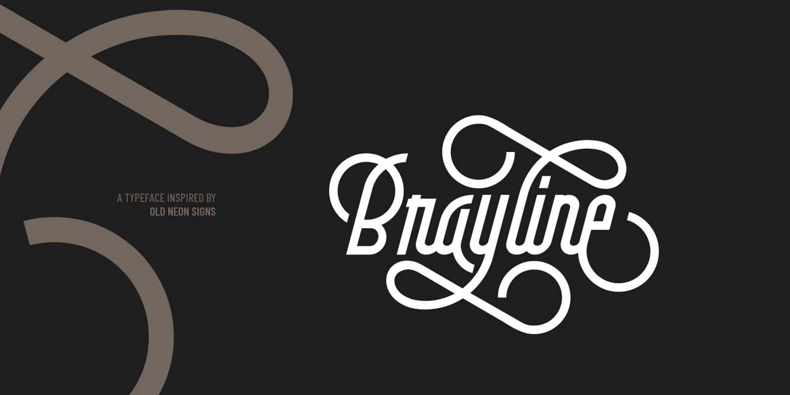 Brayline Monline Free Font