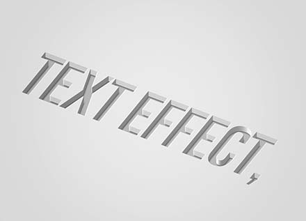 Debossed Text Effect Mockup