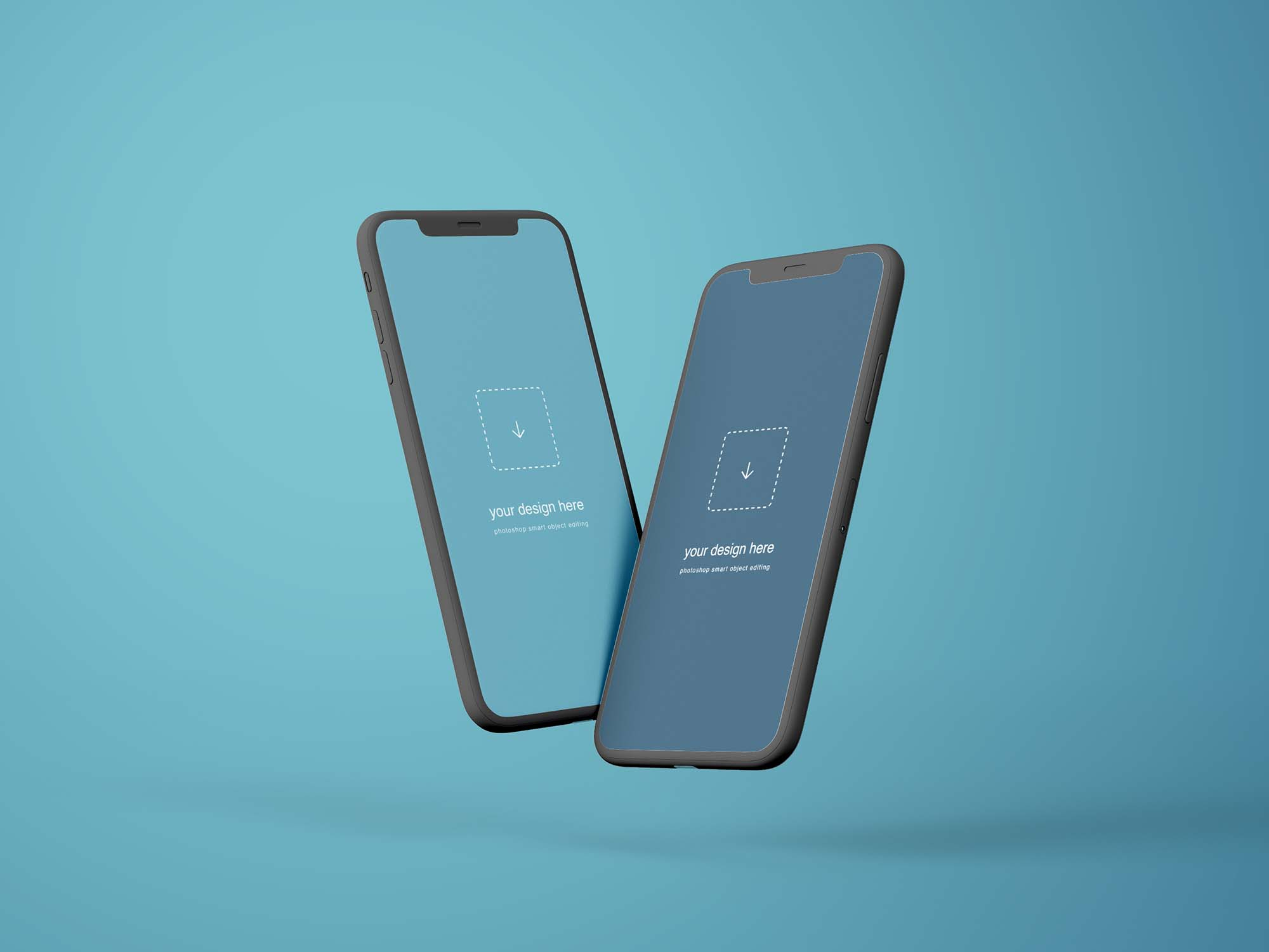Flying iPhone X Mockups