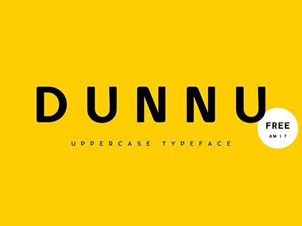 Dunnu Sans Font