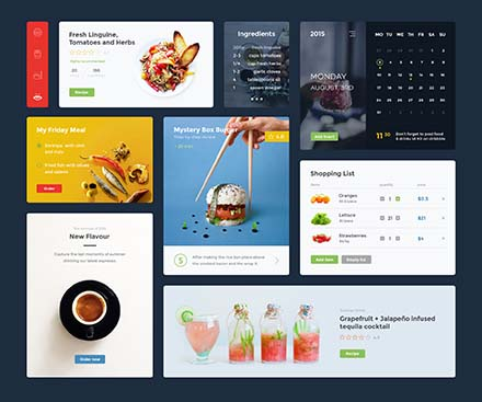 Food and Drink UI Kit Template
