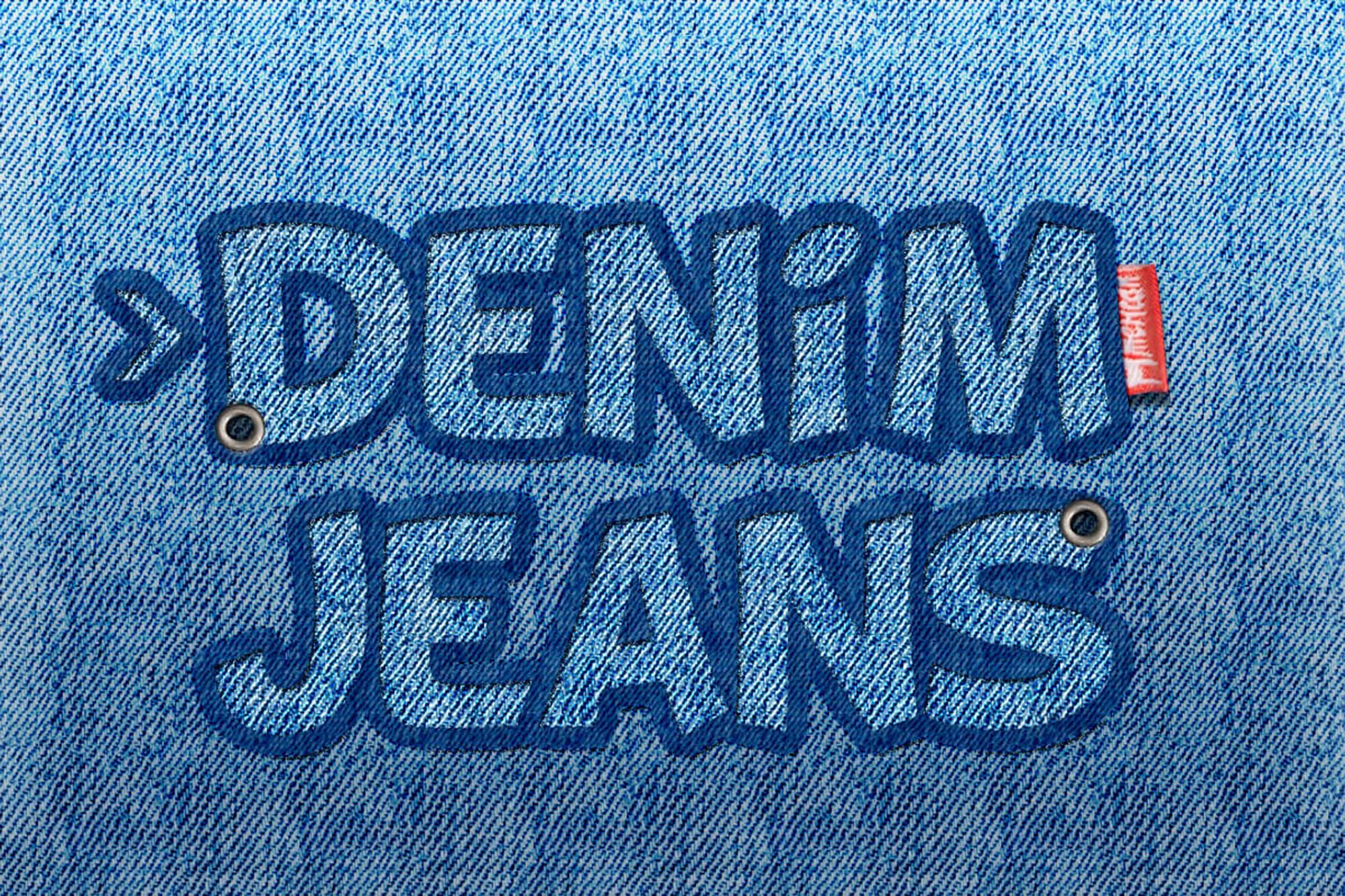Free Jeans Photoshop Text Effect