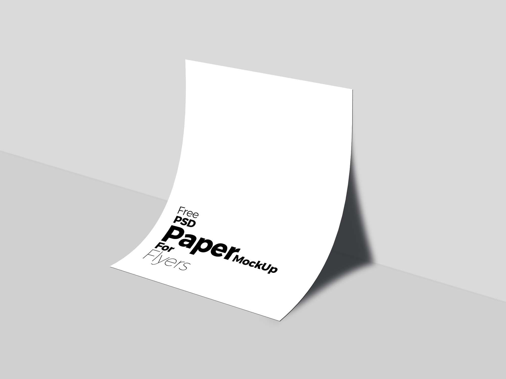 Free PSD A4 Paper MockUp