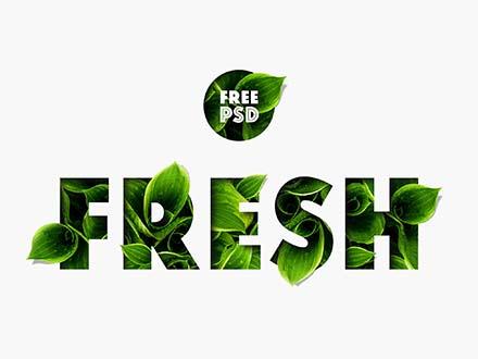 Fresh Nature Text Effect PSD