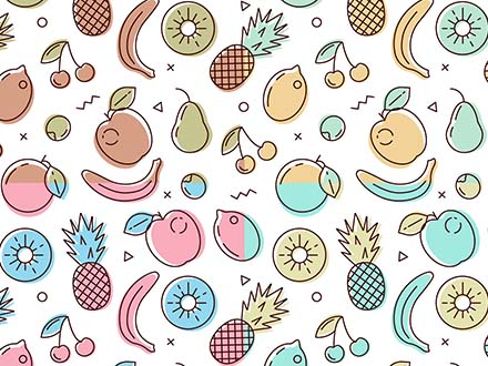Fruit Vector Pattern