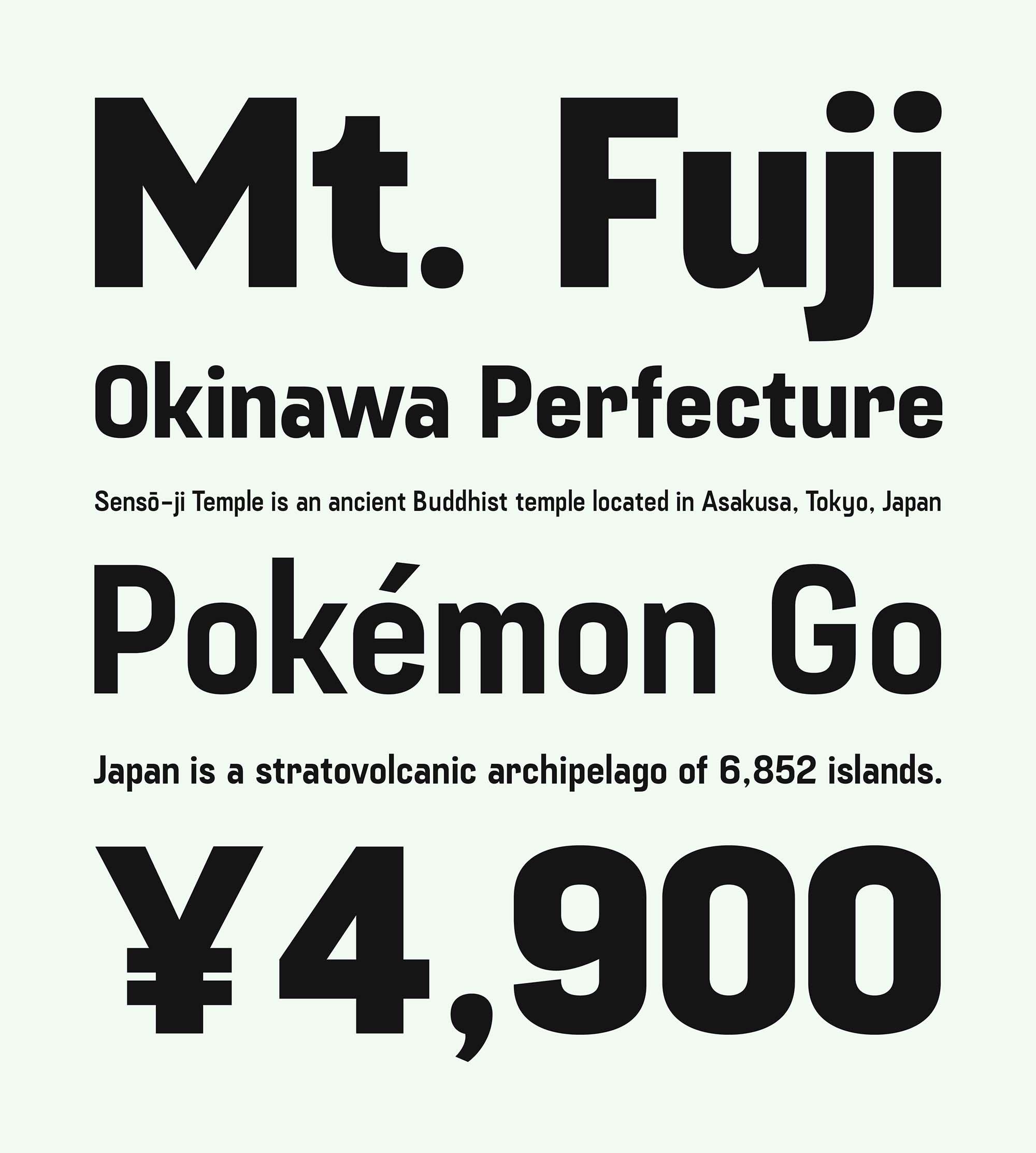 Fuji Sans Font