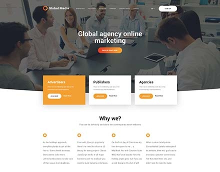 Global Media Website Template