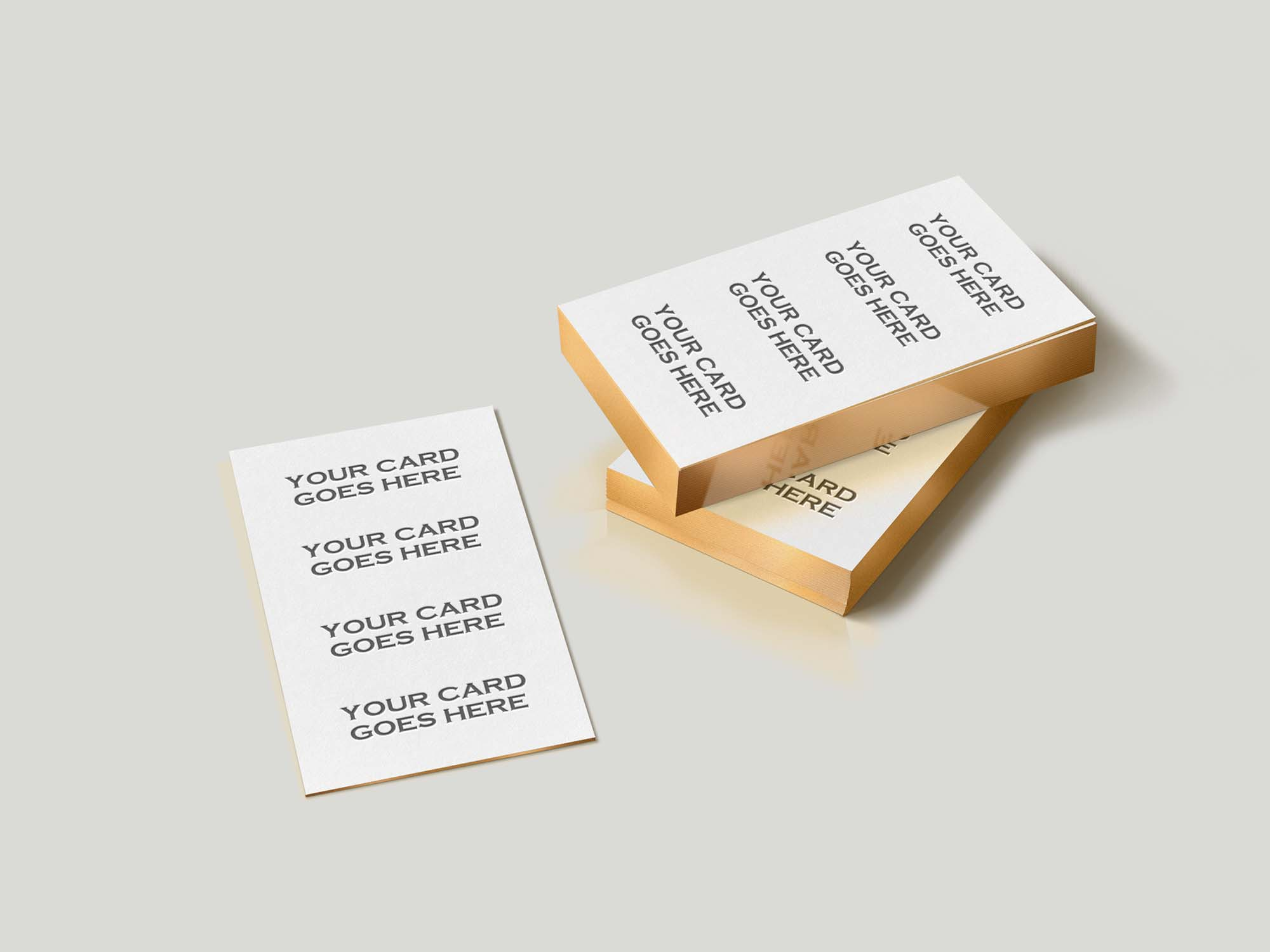 Free Gold Edge Business Card Mockup Psd