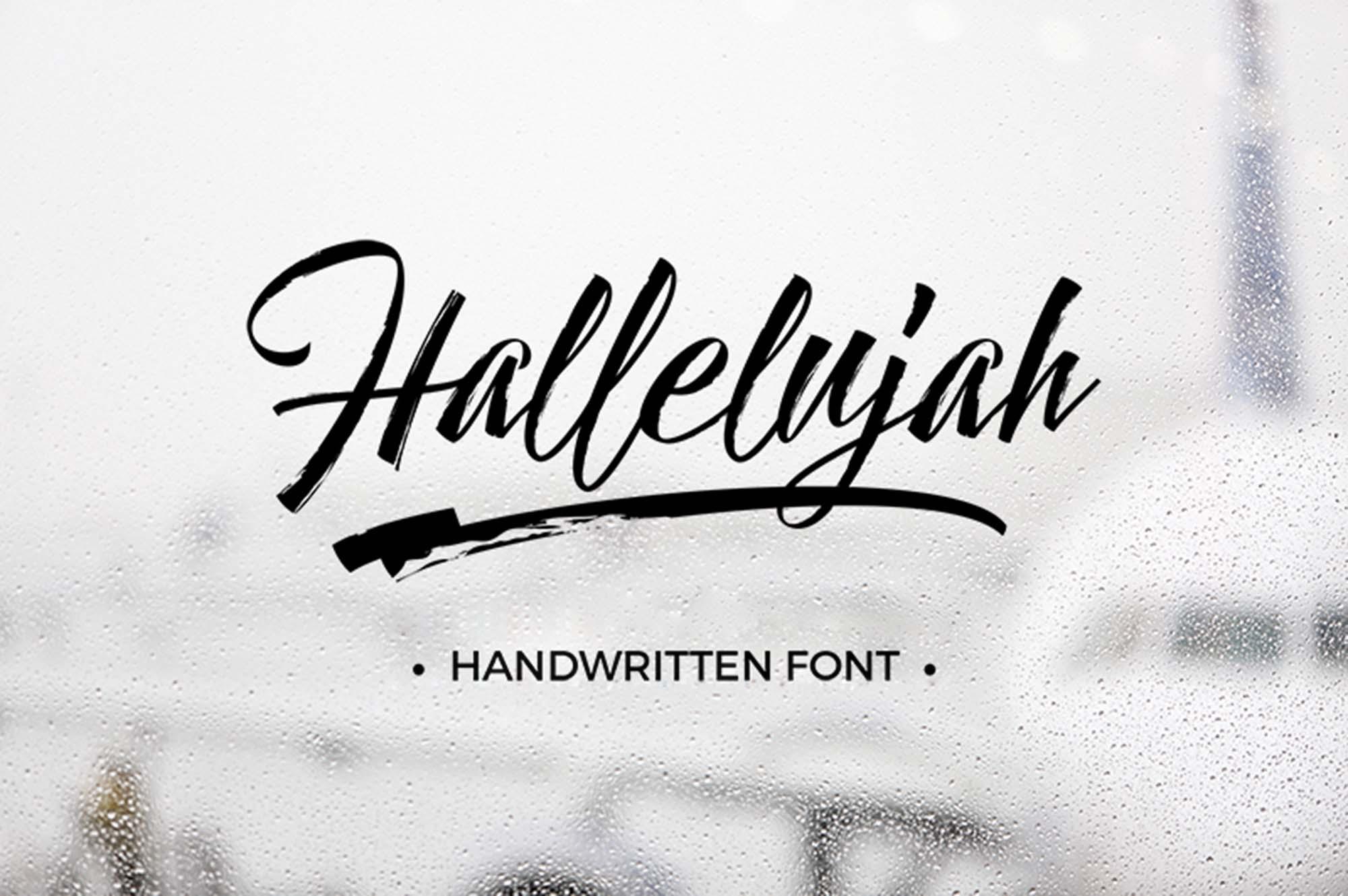 Hallelujah Free Script Font