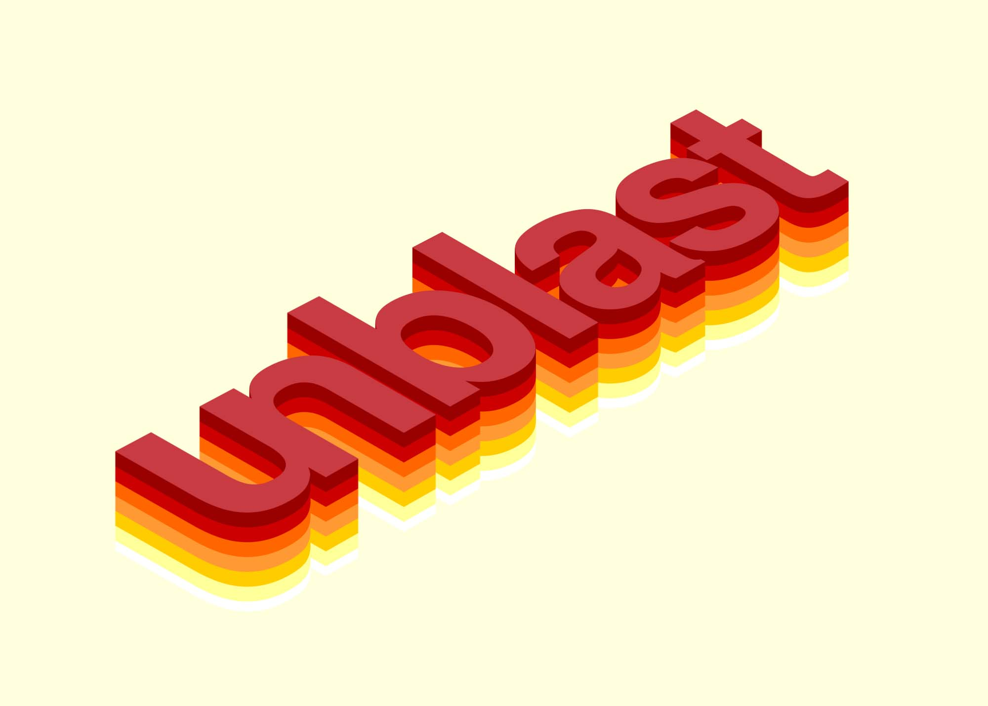 Isometric Colorful 3D Text Effect