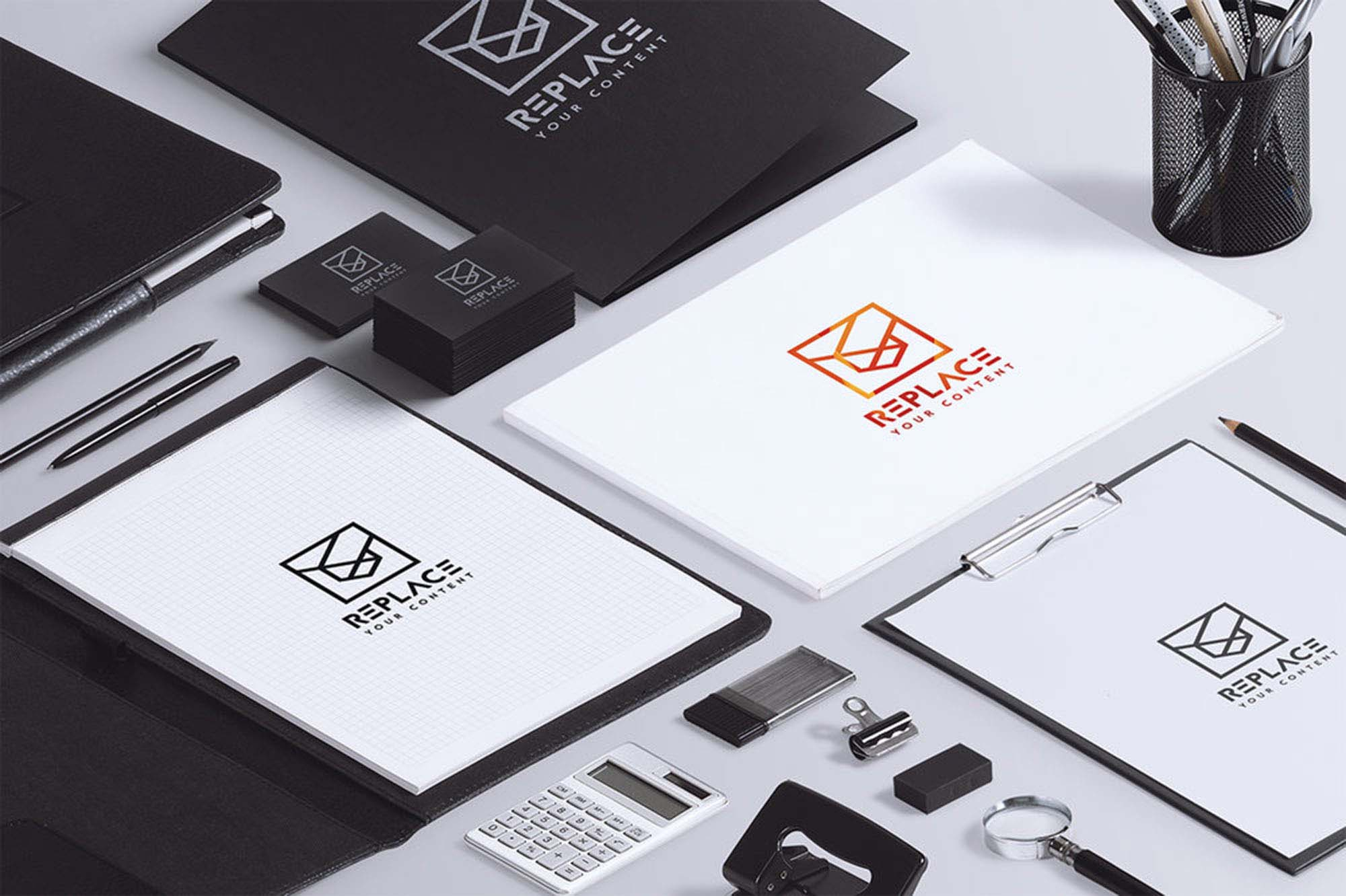 Isometric Stationery Mockup 1