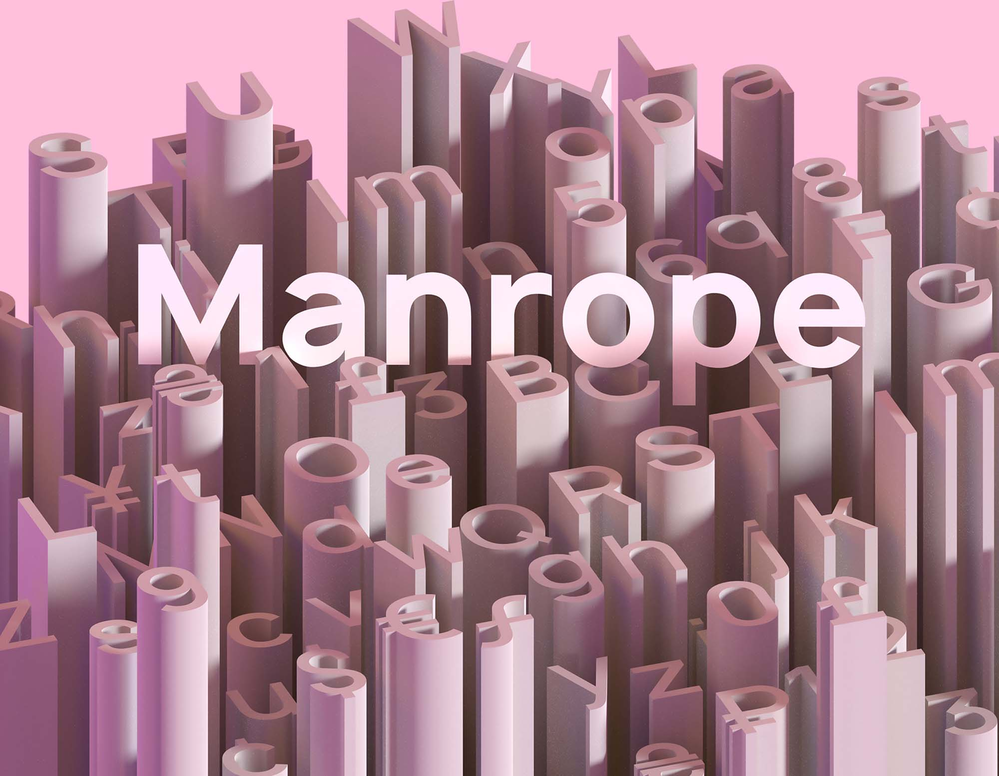 Manrope Font Poster
