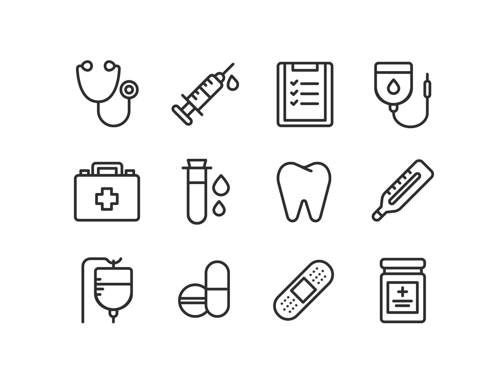 Medical Icons - line