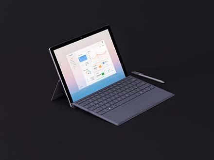Microsoft Surface Pro Mockup