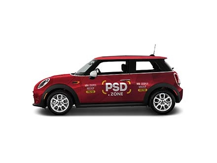 Mini Cooper Car Mockup PSD
