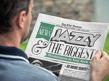 Photorealistic Newspaper Mockup