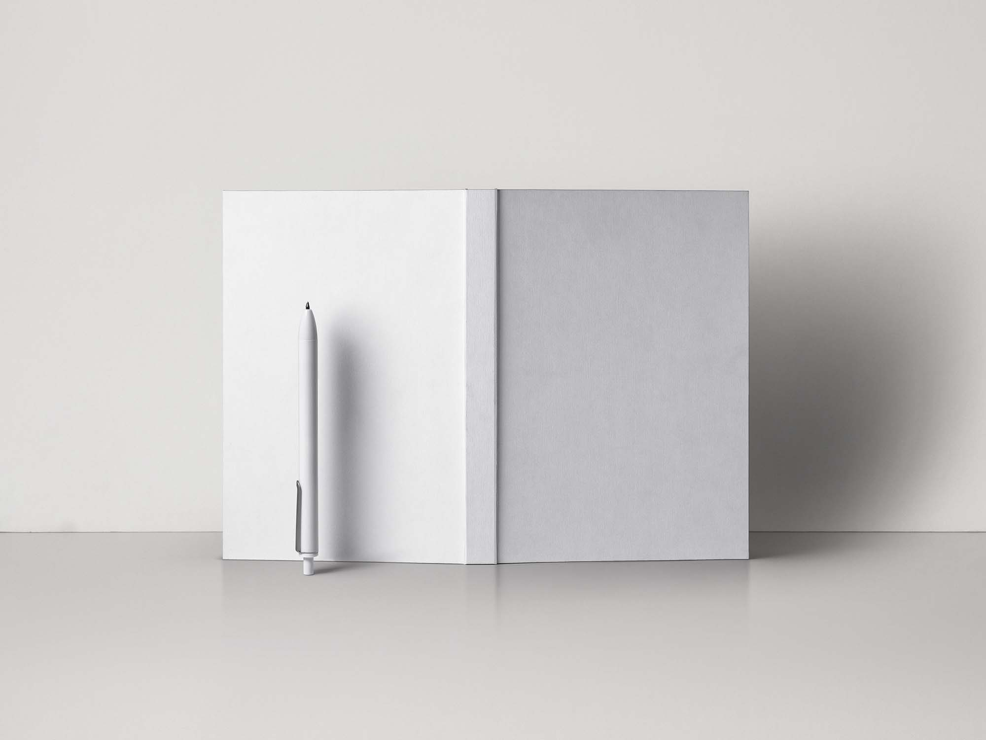 Open Hardcover Book Mockup