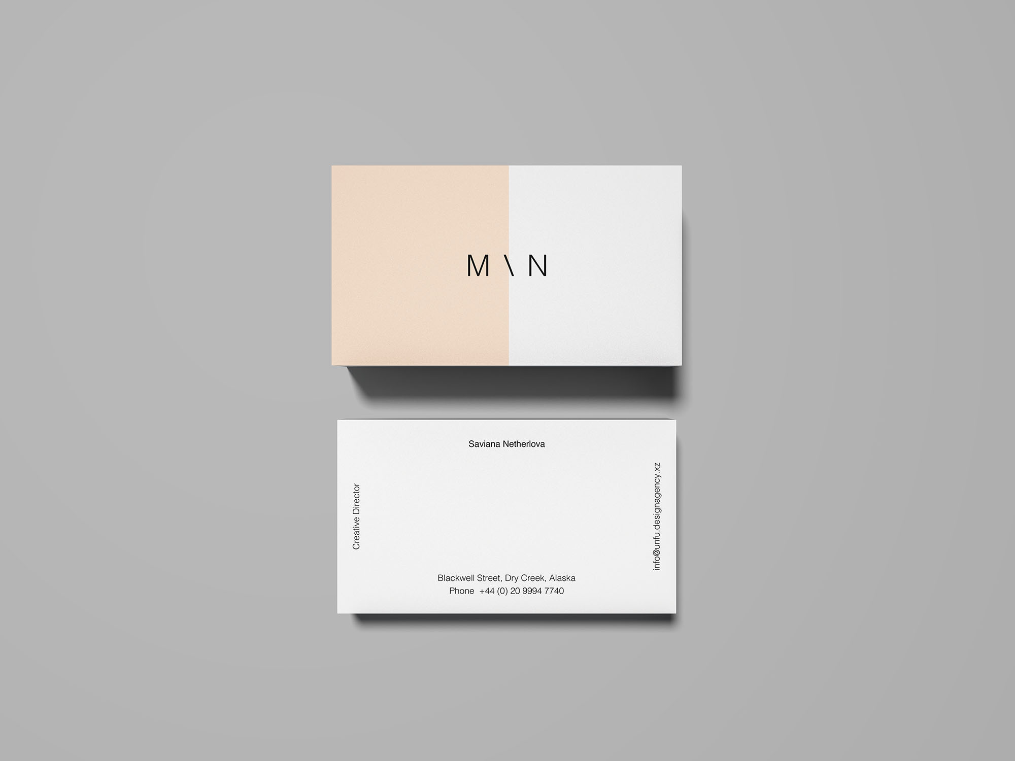 free overhead business card mockup psd - Business Card Mockups