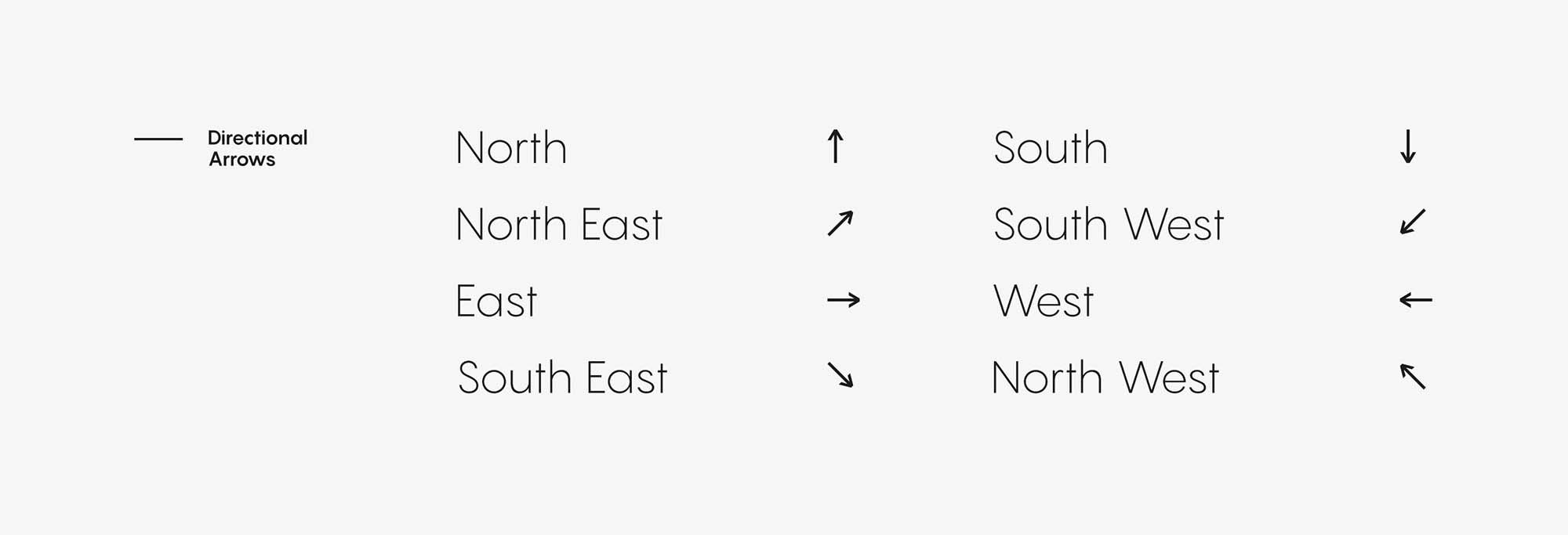Pangram Sans Font Arrows