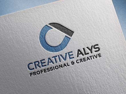 Paper Pressed Logo Mockup