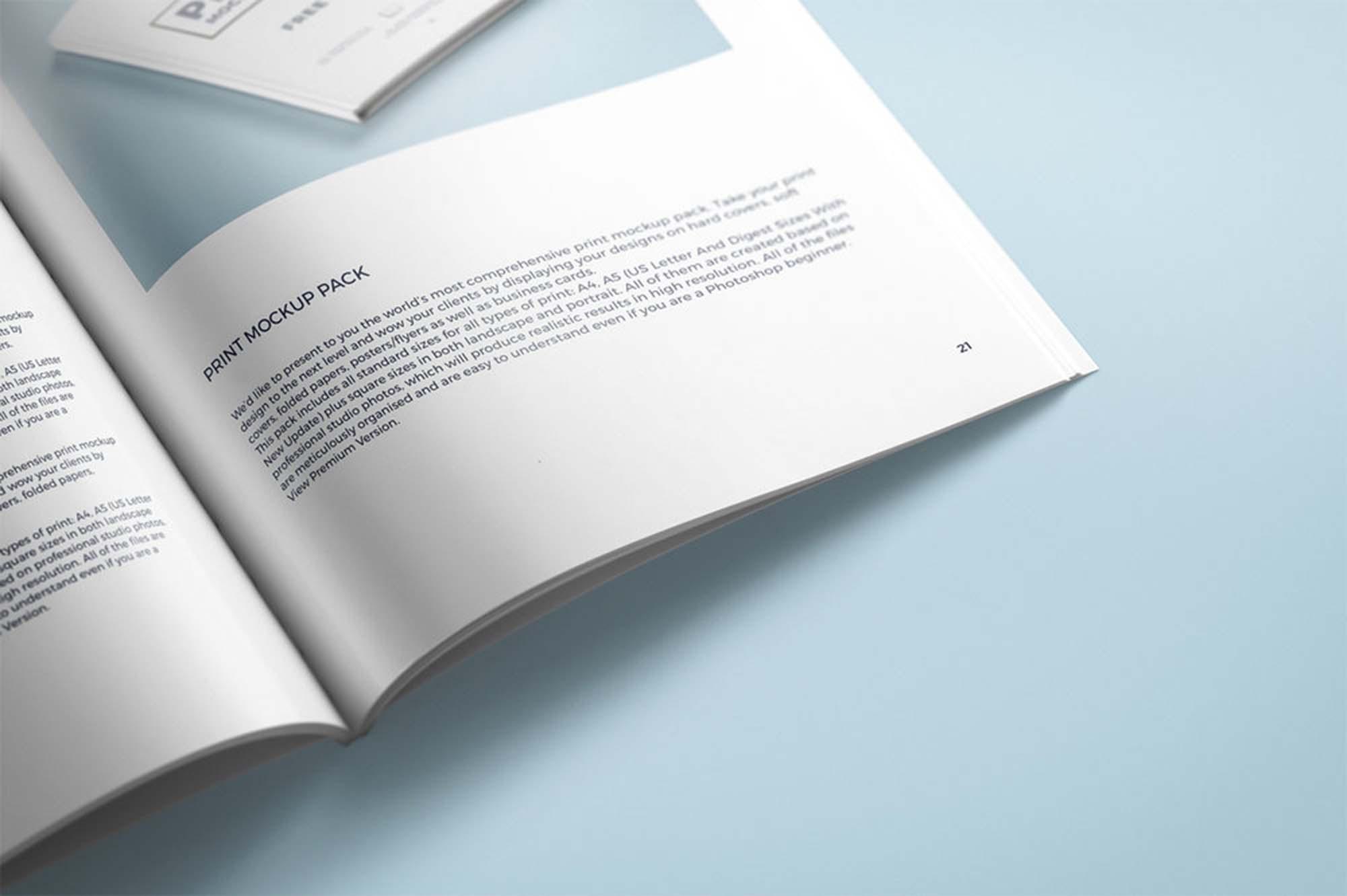Print Mockup Magazine