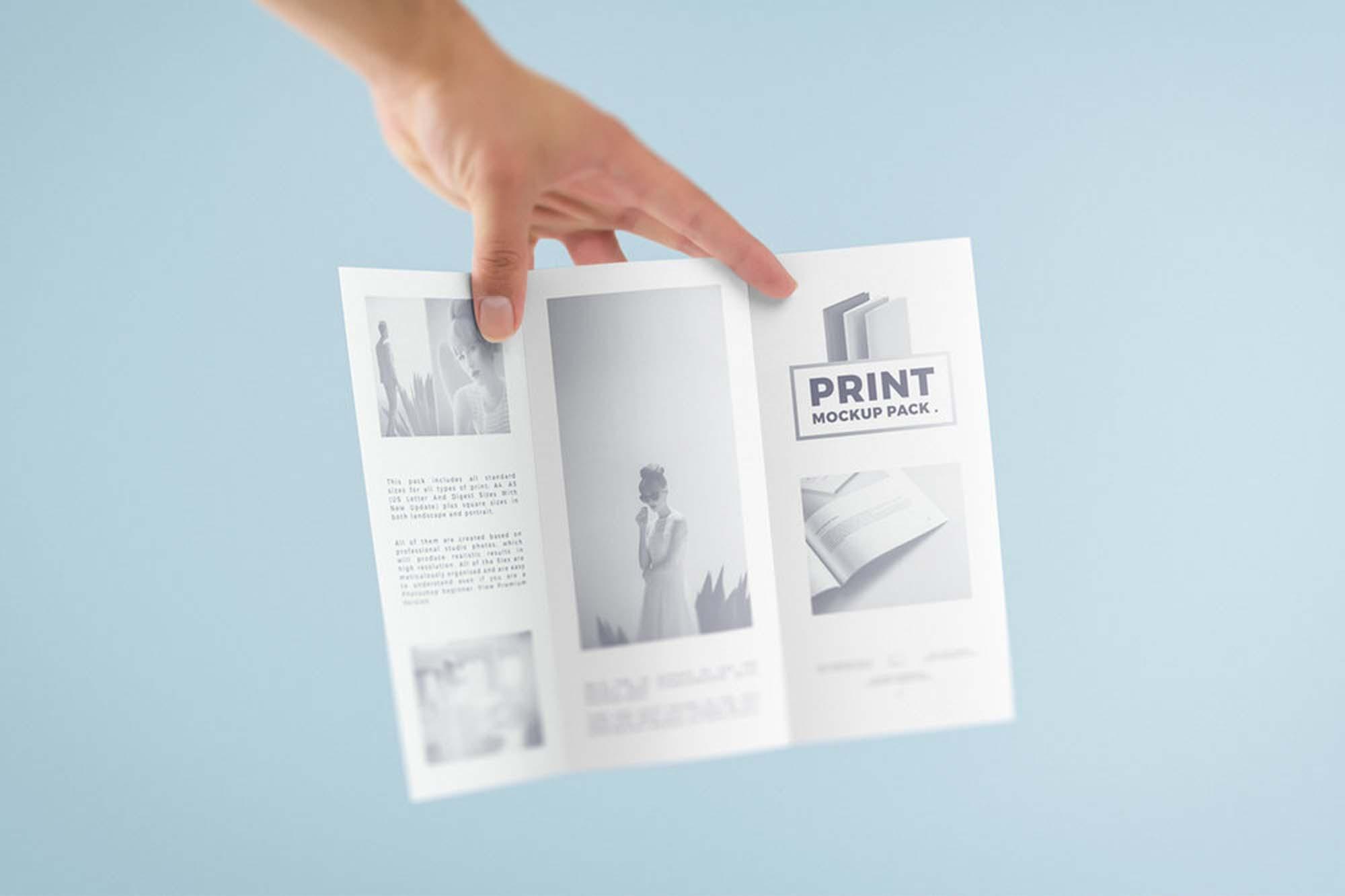 Print Mockup Trifold