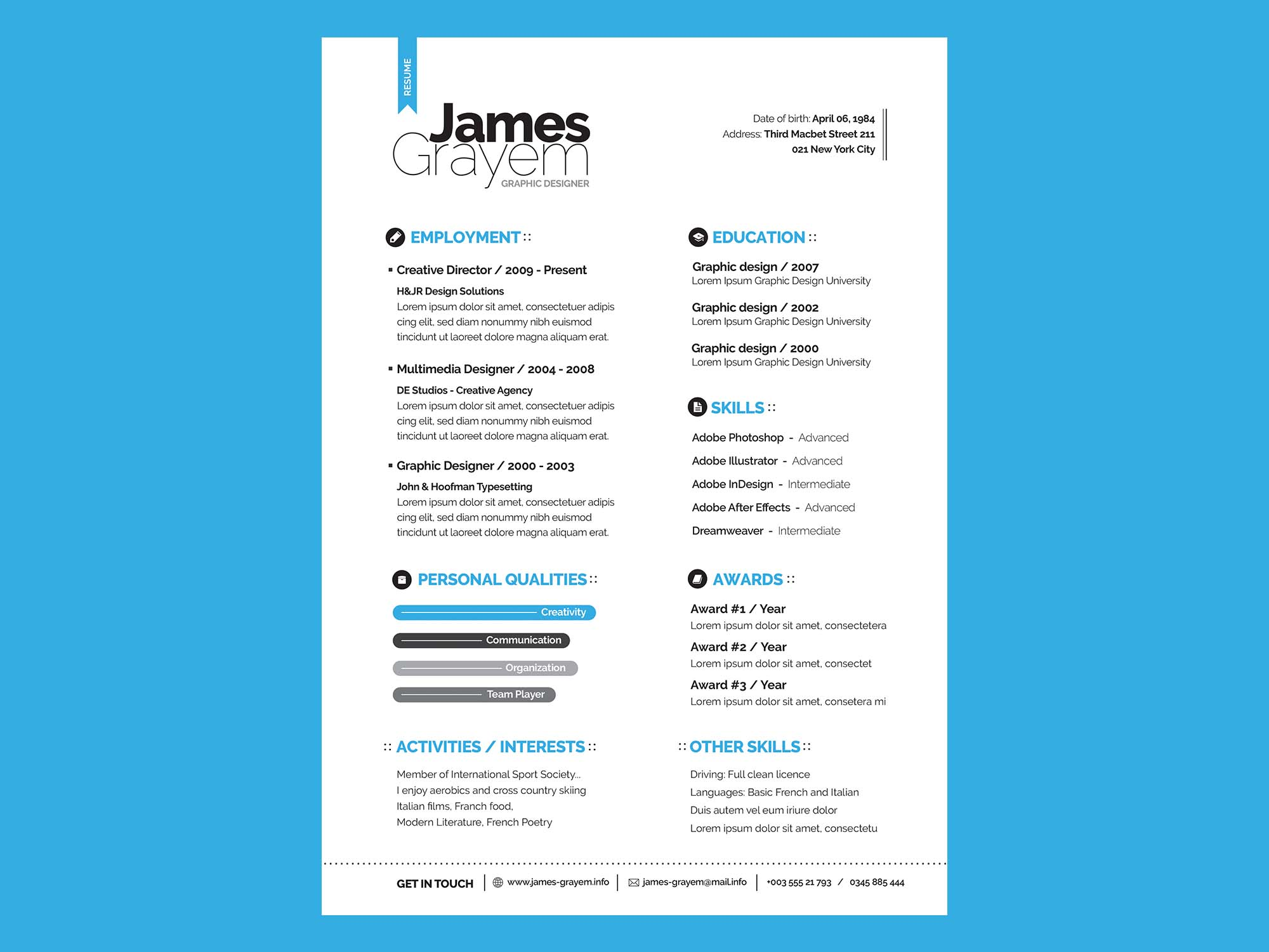 Free Resume And Cover Letter Template