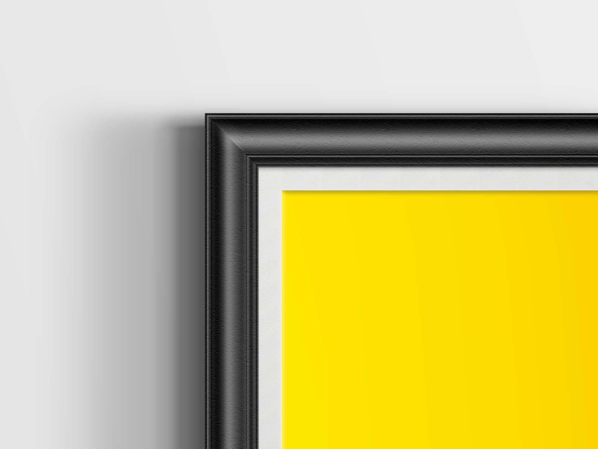 Retro Poster Frame Mockup - Zoom
